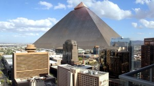 Monitor Gray - Pyramid by Peter Rubin superimposed into downtown Phoenix
